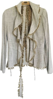 MANGO Multicolour Linen Jacket for Women