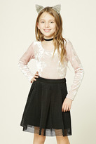 Forever 21 FOREVER 21+ Girls Open-Mesh Skirt (Kids)