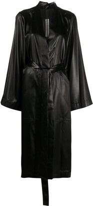 Rick Owens Waist-Tied Single Breasted Coat
