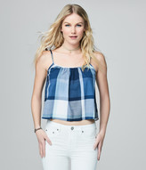 Prince & Fox Crinkle Plaid Tank