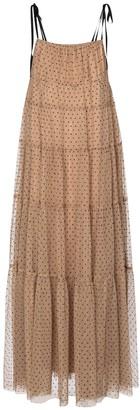 STAUD Lilia flocked tulle maxi dress
