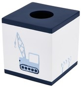 Kassatex Construction Tissue Box Cover White