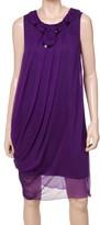 Max Studio Beaded Side Drape Dress
