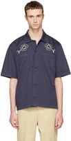 Our Legacy Navy splash Box Shirt