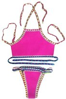 SunShine Day SunShine Rosy Handmade Crochet Neoprene Tankini Swimsuit