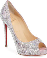 Christian Louboutin New Very Riche 120 Peep-Toe Red Sole Pumps