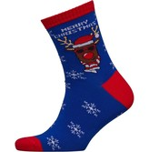 Fluid Mens Christmas Reindeer Socks Multi