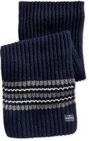Nautica Men's Striped Knit Scarf