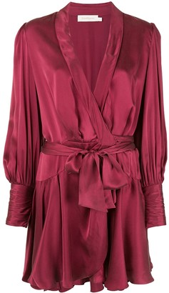 Zimmermann mini wrap dress