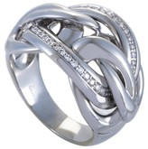Chimento 18K White Gold Knotted Diamond Ring Size 7.25