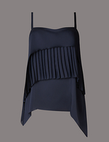 Autograph Pleated Square Neck Camisole Top