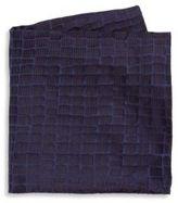 Armani Collezioni Caiman Solid Silk Pocket Square