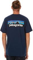 Patagonia P6 Logo Mens Tee Blue