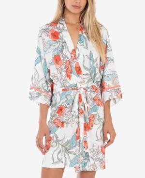 Linea Donatella Tropical-Print Wrap Robe