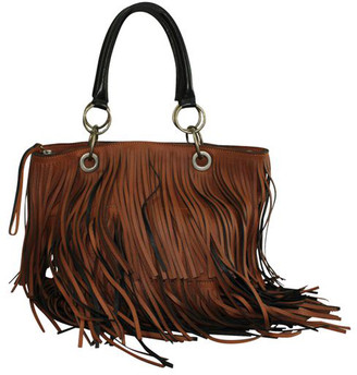 Marni Brown Leather Fringes Tote