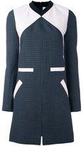 Courreges colour block tweed shift dress - women - Cotton/Polyester/Polyurethane/Wool - 36