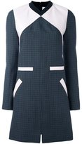 Courreges colour block tweed shift dress