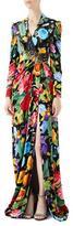 Gucci Velvet Gown with Chine de Fleurs Print