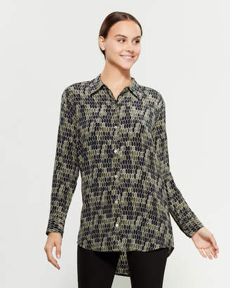 Equipment Silk Geometric Printed Shirt