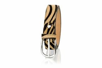 Woodland Leathers Animal Print Leather Belt Adjustable (Tiger Print S / 28-32)