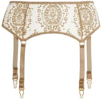 KATHERINE HAMILTON Lace Abrielle Suspender Belt