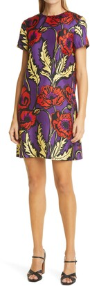 La DoubleJ Floral Silk Swing Dress
