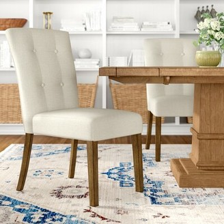 Three Posts Chugwater Tufted Upholstered Side Chair Upholstery Color: Beige