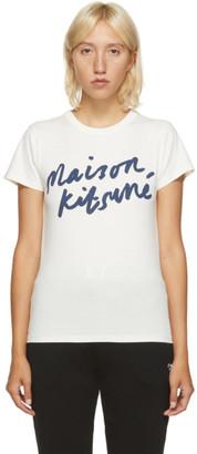MAISON KITSUNÉ Off-White Handwriting Classic T-Shirt