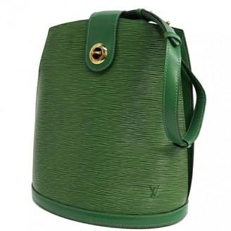 Louis Vuitton Cluny Vintage Green Leather Handbags