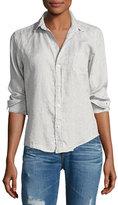 Frank And Eileen Barry Long-Sleeve Linen Shirt, Gray