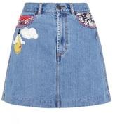 Marc Jacobs Mini-jupe en denim à orne