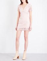 Sandro Floral guipure-lace mini dress