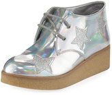Stella McCartney Wendy Star-Patched Platform Sneaker