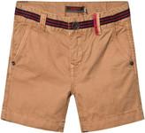 Catimini Tan Shorts with Stripe Waist Detail