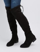 Charlotte Russe Drawstring Flat Over-The-Knee Boots