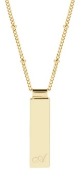 brook & york Maisie Initial Gold-Plated Pendant Necklace