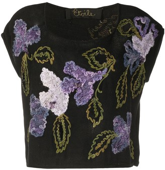 A.N.G.E.L.O. Vintage Cult 1980s floral embroidered T-shirt
