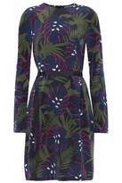 Markus Lupfer Pleated Printed Silk Mini Dress