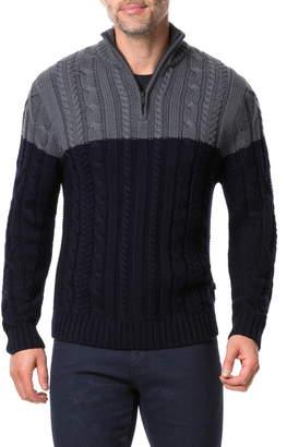 Rodd & Gunn Savill Road Colorblock Quarter Zip Wool Sweater