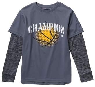 Champion Basketball Hangdown Long Sleeve T-Shirt (Big Boys)
