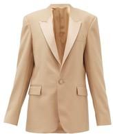 Pallas X Claire Thomson Jonville X Claire Thomson-jonville - Georgia Single-breasted Wool-crepe Jacket - Womens - Beige