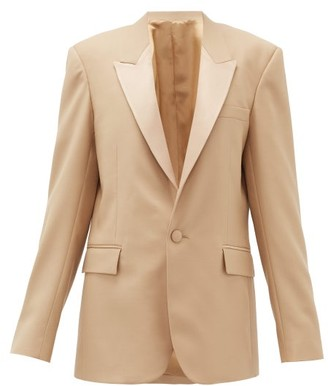 Pallas X Claire Thomson-jonville - Georgia Single-breasted Wool-crepe Jacket - Womens - Beige