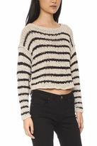 Free People Striped Knit Sweater