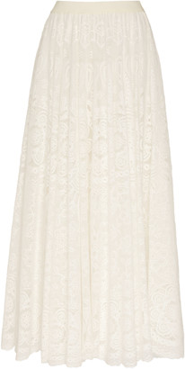 RED Valentino Chantilly Lace Cotton-Blend Maxi Skirt