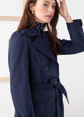 And other stories Belted Twill Trench Jacket