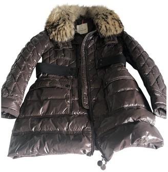 Moncler Long Brown Coat for Women