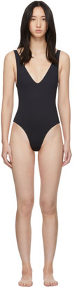 Her Line SSENSE Exclusive Black Ester One-Piece Swimsuit