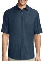 Claiborne Short-Sleeve Chambray Shirt