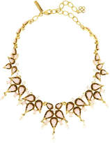 Oscar de la Renta Pear Cabochon Collar Necklace