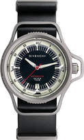 Givenchy GY100201s01 Seventeen mechanical edition titanium and leather watch